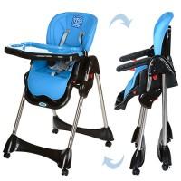 Детский стульчик для кормления Bambi M 3216-4, черно-голубой