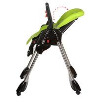 Детский стульчик для кормления Bambi M 3216-5, черно-салатовый