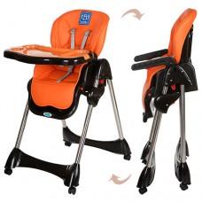 Детский стульчик для кормления Bambi M 3216-7, черно-оранжевый