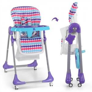 Детский стульчик для кормления Bambi M 3233-12, фиолетовый