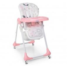 Детский стульчик для кормления Bambi M 3233 Lamb Light Pink, розовый