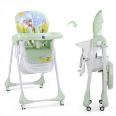 Детский стульчик для кормления Bambi M 3234-4, зеленый