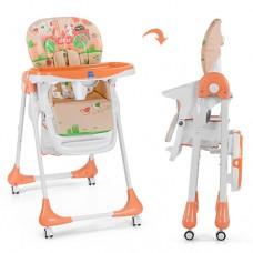 Детский стульчик для кормления Bambi M 3234-5, персиковый