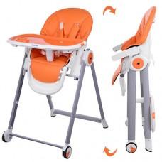 Детский стульчик для кормления El Camino M 3550-7 MOON, оранжевый