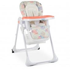 Детский стульчик для кормления Bambi M 3890 Fusion Coral, оранжевый