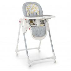Детский стульчик для кормления El Camino ME 1037 CRYSTAL Banana Gray, серый