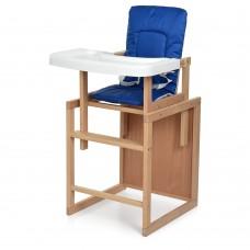 Детский деревянный стульчик-трансформер для кормления Bambi R1, синий