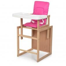 Детский деревянный стульчик-трансформер для кормления Bambi R2, розовый