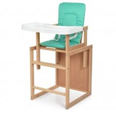 Детский деревянный стульчик-трансформер для кормления Bambi R3, зеленый