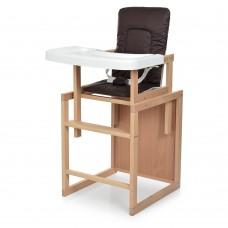 Детский деревянный стульчик-трансформер для кормления Bambi R4, кофейный