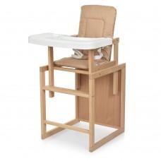 Детский деревянный стульчик-трансформер для кормления Bambi R5, бежевый