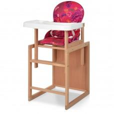 Детский деревянный стульчик-трансформер для кормления Bambi RH-2, розовый