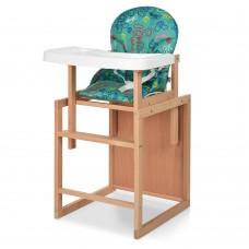 Детский деревянный стульчик-трансформер для кормления Bambi RH-3, зеленый