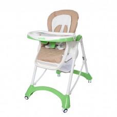 Детский стульчик для кормления Carrello CRL-9501/1 Caramel Light Green, бежево-зеленый