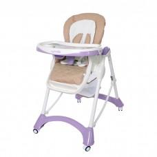 Детский стульчик для кормления Carrello CRL-9501/1 Caramel Purple, бежево-фиолетовый