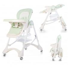 Детский стульчик для кормления Carrello CRL-9501/3 Aqua Green, бело-зеленый