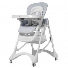Детский стульчик для кормления Carrello CRL-9501/3 Caramel Cloud Grey, серый