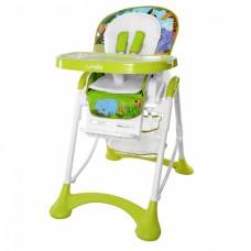 Детский стульчик для кормления Carrello CRL-10001 Chef Green, зелено-белый