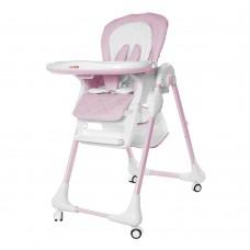 Детский стульчик для кормления Carrello CRL-9502/2 Toffee Candy Pink, бело-розовый