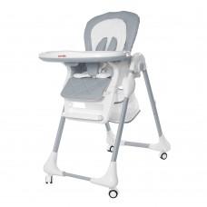 Детский стульчик для кормления Carrello CRL-9502/2 Toffee Cloud Grey, бело-серый