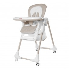 Детский стульчик для кормления Carrello CRL-9502/2 Toffee Cream Beige, бело-бежевый