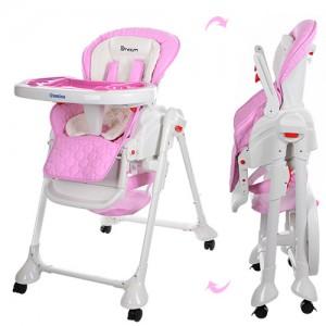 Детский стульчик-люлька для кормления El Camino M3551-8 DREAM, розовый