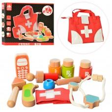 Деревянная игрушка Доктор MD 1317 мед.инструменты, сумка