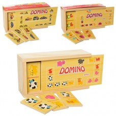Деревянная игрушка Домино MD 1126 28 деталей, 3вида, в пенале