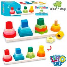 Деревянная игрушка Геометрика MD 1216 27см, 16дет