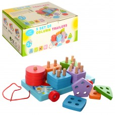 Деревянная игрушка Геометрика MD 1262 18см, каталка