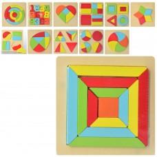 Деревянная игрушка Геометрика MD 2271 фигуры/цифры, 12видовке