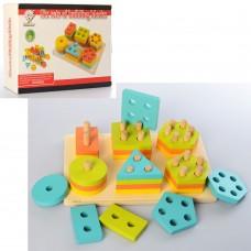Деревянная игрушка Геометрика MD 2309 фигуры 36шт
