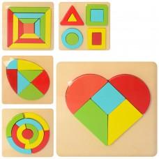 Деревянная игрушка Геометрика MD 2314 фигуры, микс видовке