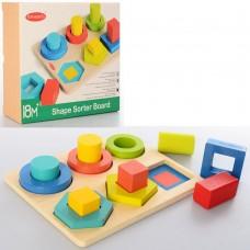 Деревянная игрушка Геометрика MD 2363, 12 фигурок