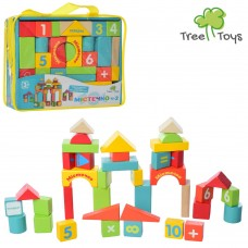 Деревянная игрушка Городок MD 1316 38 деталей, 2вида, в сумке