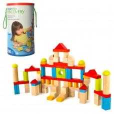 Деревянная игрушка Городок MD 1514 в колбе, крышка-сортер