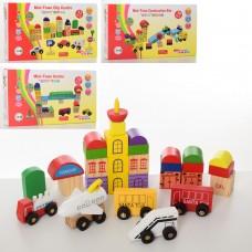 Деревянная игрушка Городок MD 2176 транспорт, 4вида