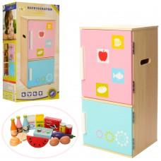 Деревянная игрушка Холодильник MD 1065 22-47-18см, продукты