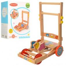 Деревянная игрушка Каталка MD 1199 ш29-г38-в49см, муз, на бат табл