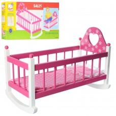 Деревянная игрушка Кровать MD 2065 53-29-38, 5см, качалка, постель