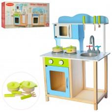 Деревянная игрушка Кухня WW-201 плита, духовка, посуда