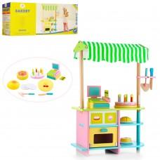 Деревянная игрушка Магазин MSN15046 кондитерская, прилавок, сладости, кас.аппар