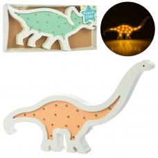 Деревянная игрушка Ночник MD 2079 динозавр, 2в 37см и 39см, свет, на бат, в кор