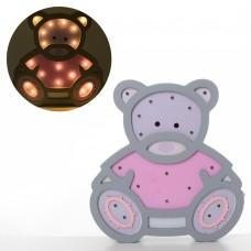 Деревянная игрушка Ночник MD 2153 мишка, 24-25, 5см, свет, на бат