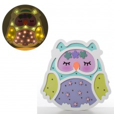 Деревянная игрушка Ночник MD 2155 сова, 27-26, 5см, свет