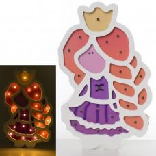 Деревянная игрушка Ночник MD 2156 принцесса, 27, 5-17см, свет