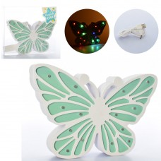 Деревянная игрушка Ночник MD 2223 бабочка25см, свет, USBзарядное, от сети/на бат-ке