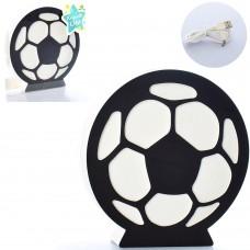 Деревянная игрушка Ночник MD 2227 футбольный мяч, свет, USBзарядное, от сети/на бат-ке