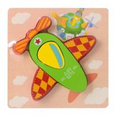 Деревянная игрушка Пазлы 15X15-1 самолет