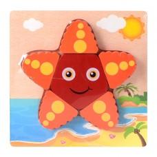 Деревянная игрушка Пазлы 15X15-2 морская звездаке